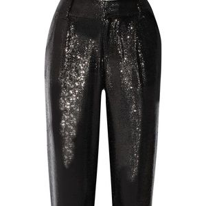 •Alice & Olivia Arthur sequin black pants